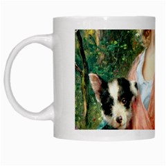 Girl With Dog White Mugs
