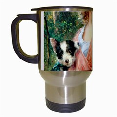 Girl With Dog Travel Mugs (white) by vintage2030