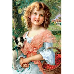 Girl With Dog 5 5  X 8 5  Notebook by vintage2030