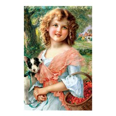 Girl With Dog Shower Curtain 48  X 72  (small)  by vintage2030