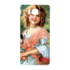 Girl With Dog Samsung Galaxy Alpha Hardshell Back Case by vintage2030