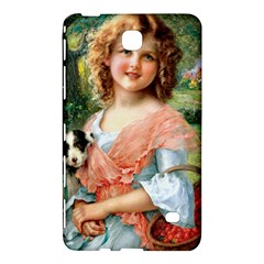 Girl With Dog Samsung Galaxy Tab 4 (7 ) Hardshell Case  by vintage2030