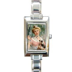 Vintage 1501585 1280 Copy Rectangle Italian Charm Watch by vintage2030