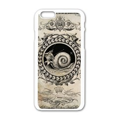 Snail 1618209 1280 Apple Iphone 6/6s White Enamel Case by vintage2030