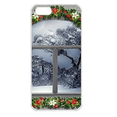 Winter 1660924 1920 Apple Iphone 5 Seamless Case (white) by vintage2030