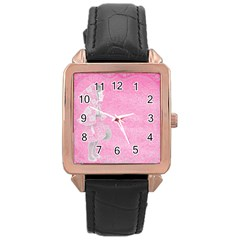 Tag 1659629 1920 Rose Gold Leather Watch  by vintage2030
