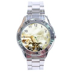 Background 1660942 1920 Stainless Steel Analogue Watch by vintage2030