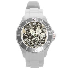Flowers 1776382 1280 Round Plastic Sport Watch (l) by vintage2030