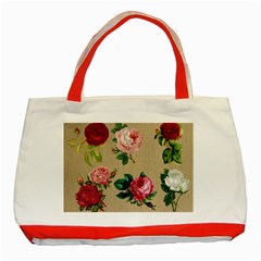 Flower 1770189 1920 Classic Tote Bag (red) by vintage2030