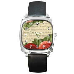 Flowers 1776422 1920 Square Metal Watch by vintage2030