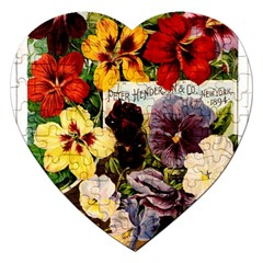 Flowers 1776534 1920 Jigsaw Puzzle (heart) by vintage2030