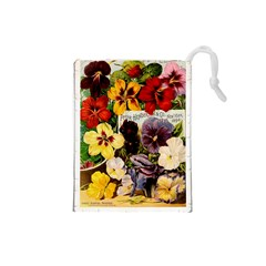 Flowers 1776534 1920 Drawstring Pouch (small) by vintage2030