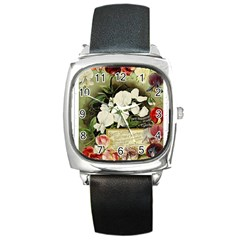 Flowers 1776617 1920 Square Metal Watch by vintage2030