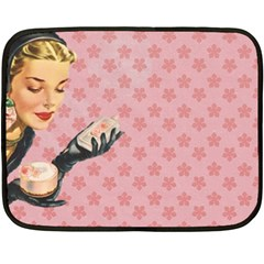 Vintage Lady Double Sided Fleece Blanket (mini)  by vintage2030