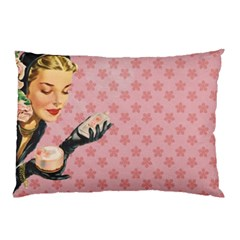 Vintage Lady Pillow Case (two Sides) by vintage2030