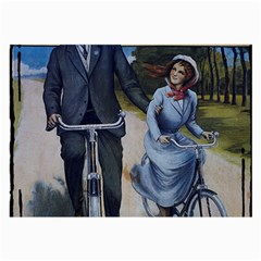 Couple On Bicycle Large Glasses Cloth (2 Side) by vintage2030
