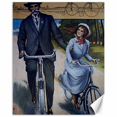 Couple On Bicycle Canvas 11  X 14  by vintage2030