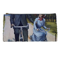 Couple On Bicycle Pencil Cases by vintage2030