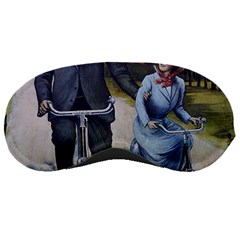 Couple On Bicycle Sleeping Masks by vintage2030