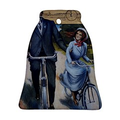 Couple On Bicycle Ornament (bell) by vintage2030