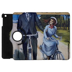 Couple On Bicycle Apple Ipad Mini Flip 360 Case by vintage2030
