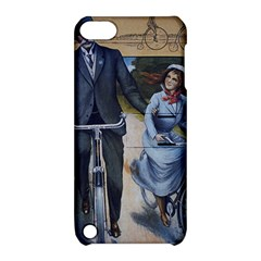 Couple On Bicycle Apple Ipod Touch 5 Hardshell Case With Stand by vintage2030