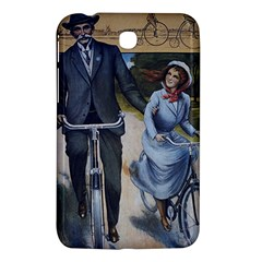 Couple On Bicycle Samsung Galaxy Tab 3 (7 ) P3200 Hardshell Case  by vintage2030