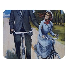 Couple On Bicycle Double Sided Flano Blanket (large)  by vintage2030