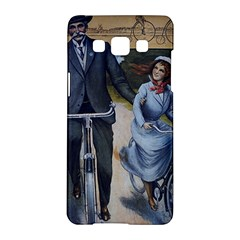 Couple On Bicycle Samsung Galaxy A5 Hardshell Case  by vintage2030