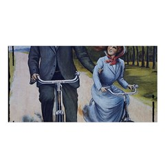 Couple On Bicycle Satin Shawl by vintage2030