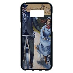 Couple On Bicycle Samsung Galaxy S8 Plus Black Seamless Case by vintage2030