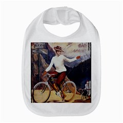 Woman On Bicycle Bib