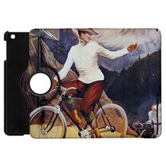 Woman On Bicycle Apple Ipad Mini Flip 360 Case by vintage2030