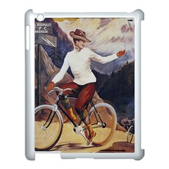 Woman On Bicycle Apple Ipad 3/4 Case (white) by vintage2030