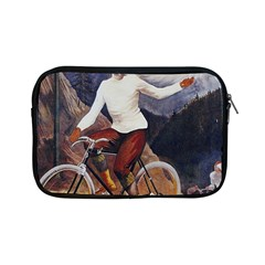 Woman On Bicycle Apple Ipad Mini Zipper Cases by vintage2030