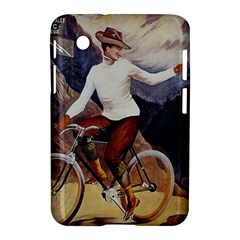 Woman On Bicycle Samsung Galaxy Tab 2 (7 ) P3100 Hardshell Case  by vintage2030