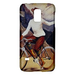 Woman On Bicycle Samsung Galaxy S5 Mini Hardshell Case  by vintage2030