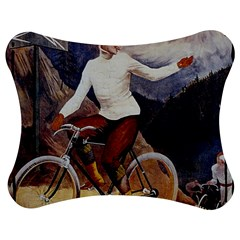 Woman On Bicycle Jigsaw Puzzle Photo Stand (bow)