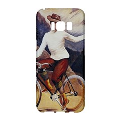 Woman On Bicycle Samsung Galaxy S8 Hardshell Case  by vintage2030