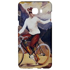 Woman On Bicycle Samsung C9 Pro Hardshell Case  by vintage2030