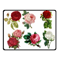 Roses 1770165 1920 Double Sided Fleece Blanket (small)  by vintage2030