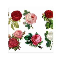 Roses 1770165 1920 Small Satin Scarf (square) by vintage2030
