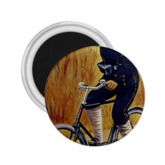 Policeman On Bicycle 2 25  Magnets by vintage2030