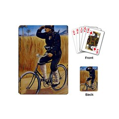 Policeman On Bicycle Playing Cards (mini)  by vintage2030