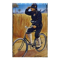 Policeman On Bicycle Shower Curtain 48  X 72  (small)  by vintage2030