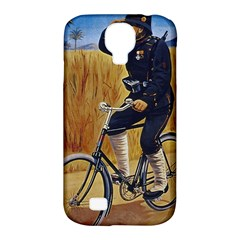 Policeman On Bicycle Samsung Galaxy S4 Classic Hardshell Case (pc+silicone) by vintage2030
