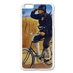 Policeman On Bicycle Apple Iphone 6 Plus/6s Plus Enamel White Case by vintage2030