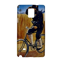 Policeman On Bicycle Samsung Galaxy Note 4 Hardshell Case by vintage2030