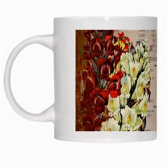 Letter Floral White Mugs by vintage2030