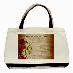 Letter Floral Basic Tote Bag (two Sides) by vintage2030